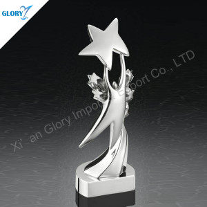 Quality Silver Trophy Star For Souvenir