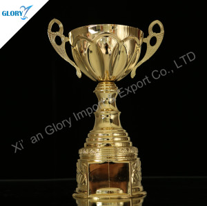 Beautifully Golden Metal Cups and Trophies