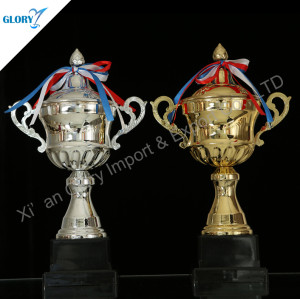 Colorful Silver Golden Trophy Cup Award In China