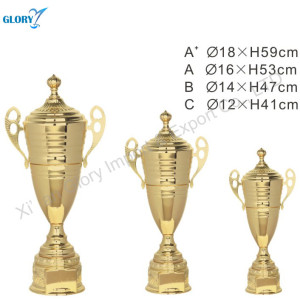Three Size Golden Metal Trophy Cup