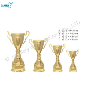 Quality Gold Metal Soccer Trophy Cup