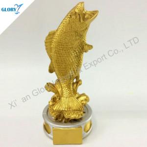 Golden Silver Fishing Resin Award Fishing Trophies