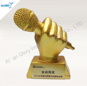 Custom Resin Music Trophy For Award Show