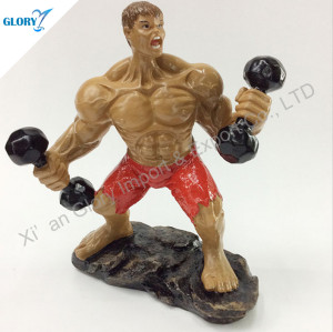 Custom Resin Bodybuilding Statue Trophy