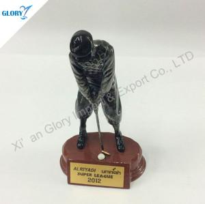 Custom Golf Resin Trophy For Souvenir