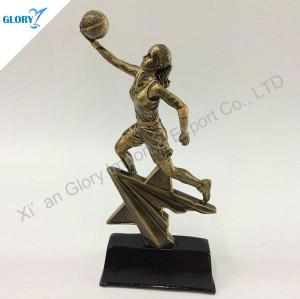 Woman Statue Resin Basketball Award