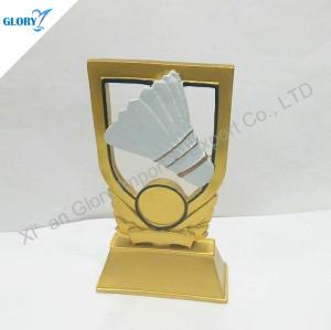Wholesale Resin Badminton Trophy For Souvenir