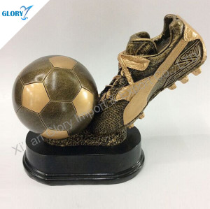 High Quality Resin Soccer Shoe Trophy