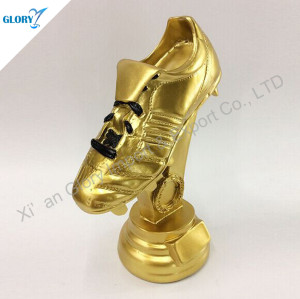 Wholesale Resin Gold Soccer Shoe Trophy