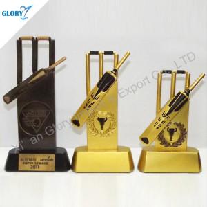 Golden Bronze Resin Cricket Trophies