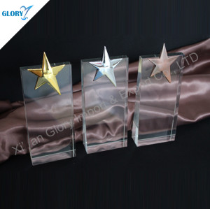 Quality Crystal Star Metal Trophies