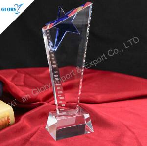 Elegant Blue Star Trophy For Award Show