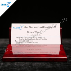 Quality Red Wood Business Card Holders