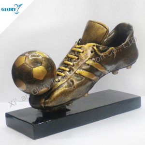 Resin Soccer Football Shoes Trophies and Sports
