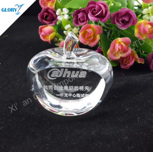 Wholesale Crystal Apple Paperweight for Souvenir