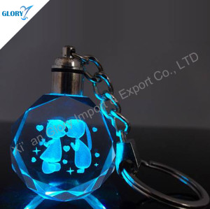 Beautiful 3D Crystal Keychain for Souvenir