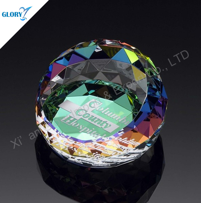 colorful crystal paperweight for gifts