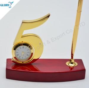 Elegant Desktop Clock 5 Year Anniversary Gift
