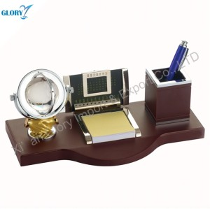 Wholesale Crystal Globe Personalized Business Gifts with Pen Holder