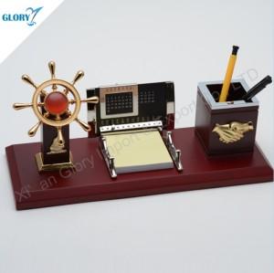 Elegant Navigation Helm Desktop Gift with Pen Holder