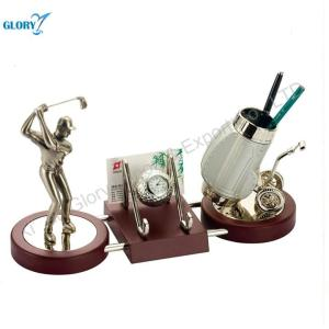 Anniversary Desktop Pen Holders Gifts For Golf Players