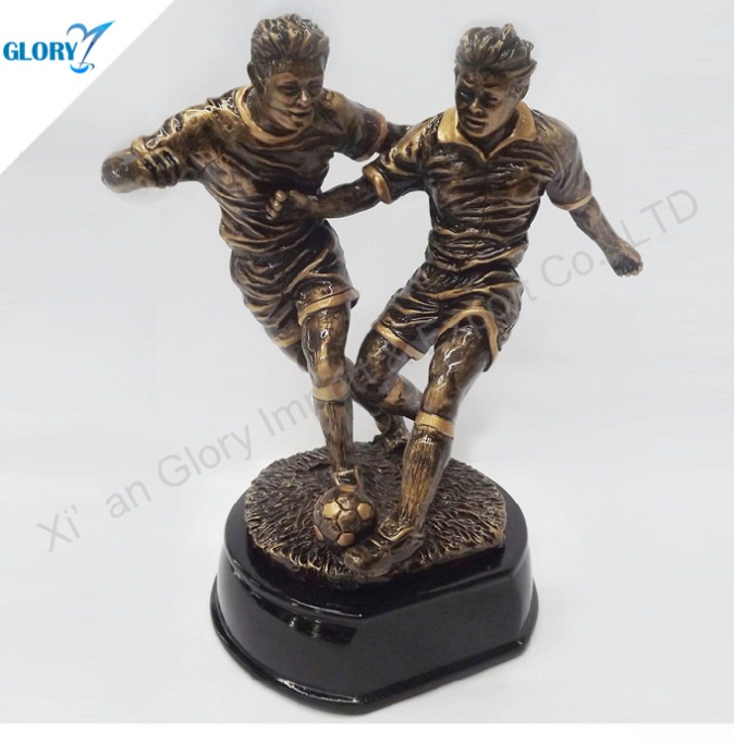 Vivid Football Player Action Figure Trophy