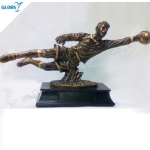 Wholesale Vivid Football Goalkeeper Trophies for Souvenir