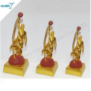 Golden Shoot a Basket Basketball Championship Trophy for Souvenir