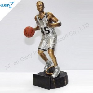 Wholesale Quality Resin Basketball Trophy for Souvenir