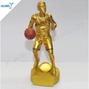 Wholesale Quality Golden Resin Basketball Awards for Kids
