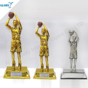 Wholesale Vivid Resin Basketball Trophy for Souvenir