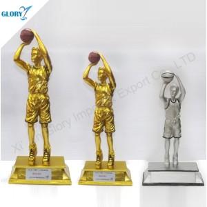 Wholesale Vivid Resin Basketball Trophy for Souvenir