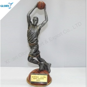 Quality Resin Basketball Trophy for Souvenir