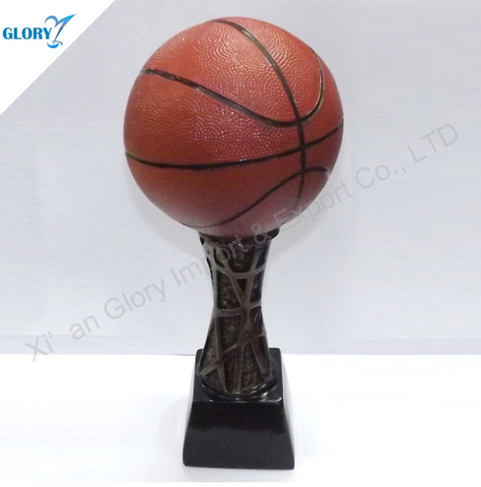 Vivid Resin Basketball Trophies for Souvenir