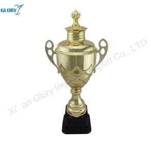 Golden Sports Cup Metal Trophies for Souvenir