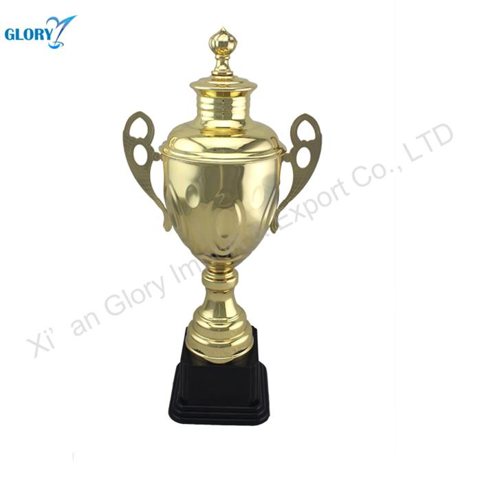 China Cheap Metal Trophy Cups with Black Base