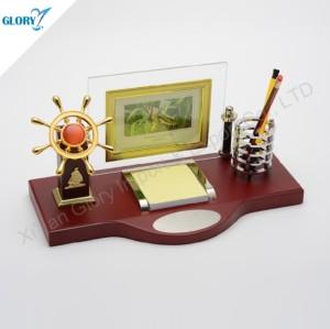 Quality Business Gift Navigation Helm Desktop Pen Holder