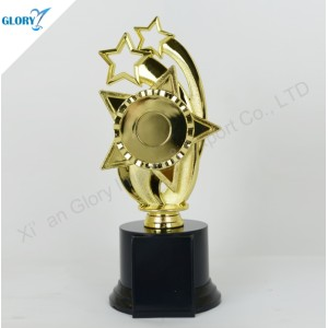 Wholesale Star Gold Silver Bronze Plastic Awards Trophies