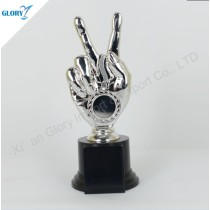 New Design Victory Hand Awards Plastic Trophy