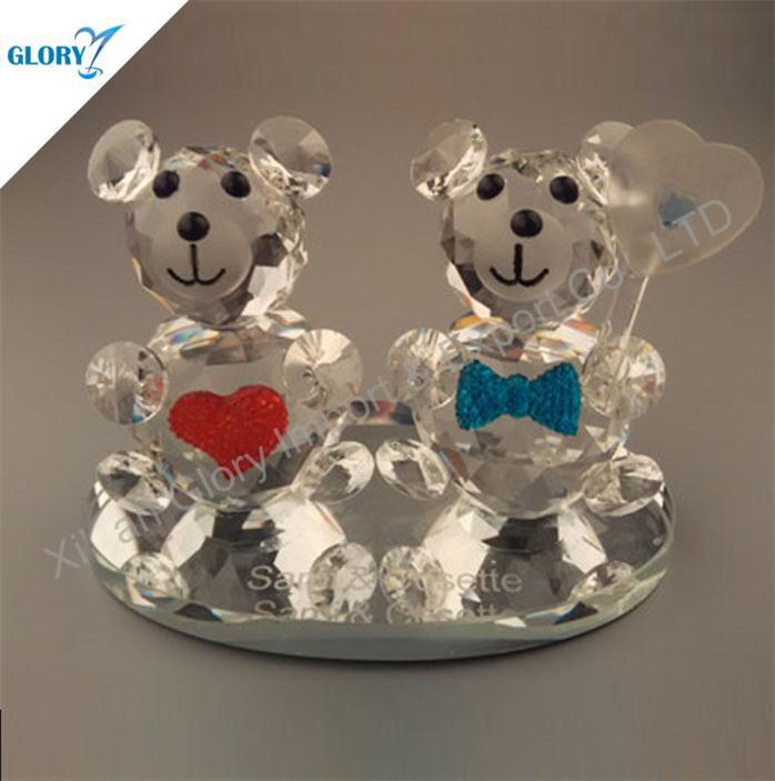 Love Gift Crystal Bear for Wedding