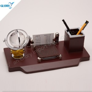 Personalized Crystal Globe Business Gifts with Pen Holder