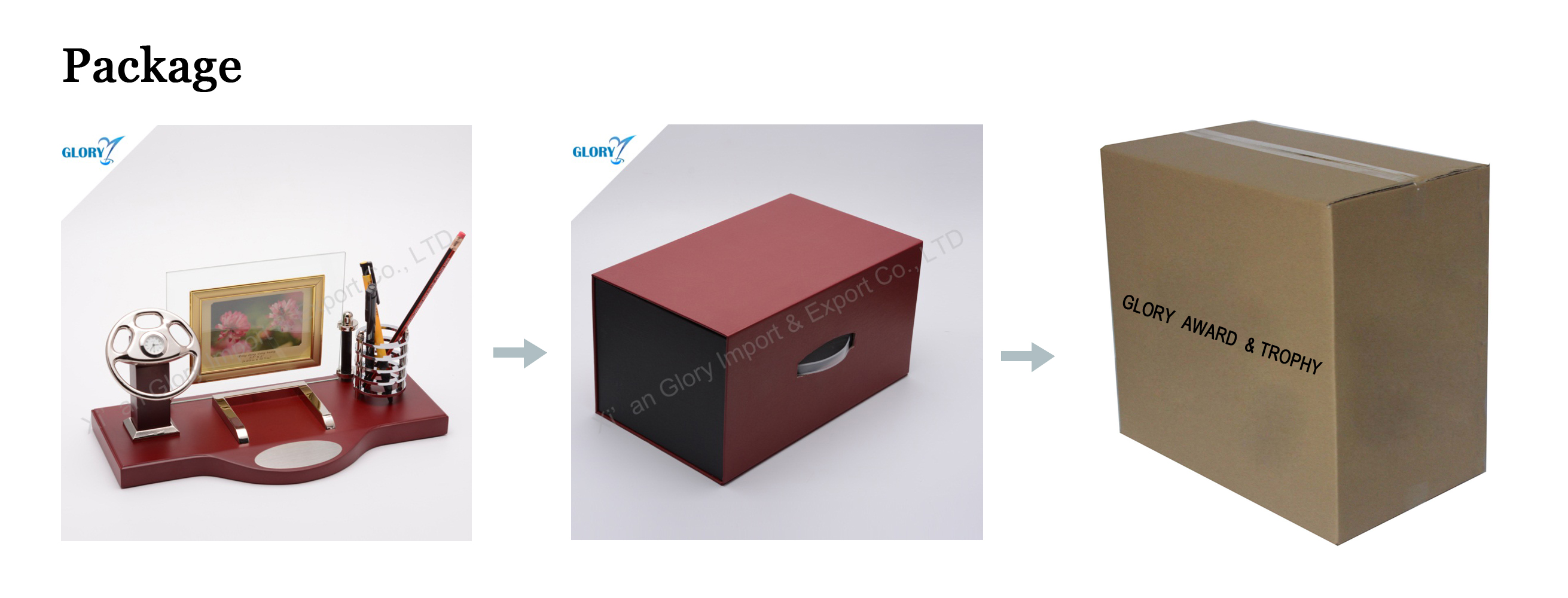 wooden desktop gift package