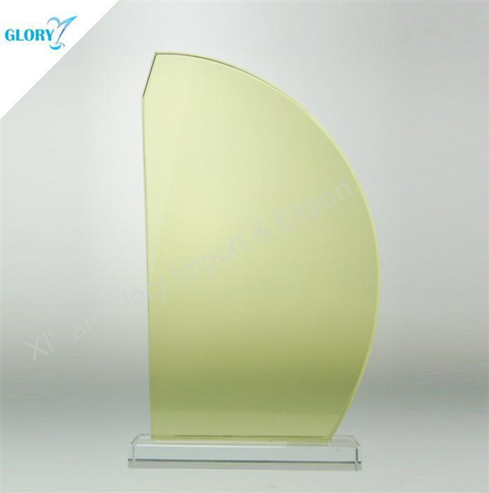 Light Yellow Blank Sailboat Trophy Glass for Souvenir
