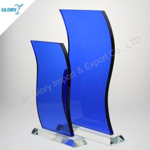 Wholesale Blue Glass Plaque Awards for Souvenir