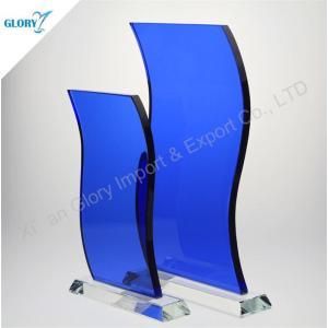 Wholesale Blue Glass Plaque Awards for Souvenir