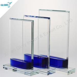 Custom Blue Base Glass Memorial Plaques