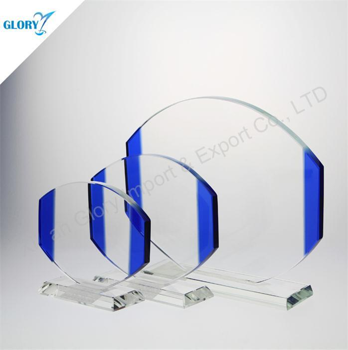 Wholesale Custom New Blue Art Glass Award for Souvenir
