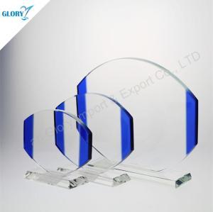 Wholesale Custom New Blue Art Glass Award for Souvenir