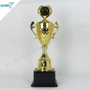 New Golden Big Plastic Trophy Cup for Sport