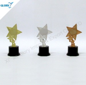 Gold Silver Bronze Plastic Star Cheap Trophies
